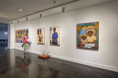 **Installation view**, ***Gloria Osuna Pérez: Beyond Portraits***, El Paso Museum of Art, April 19 - August 7, 2019. Photograph by Alex Marks.