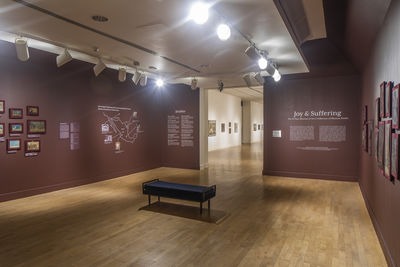 **Installation view**, ***Joy and Suffering: The El Paso Museum of Art's Collection of Mexican Retablos***, El Paso Museum of Art, March 8 – May 12, 2019. Photograph by Alex Marks.